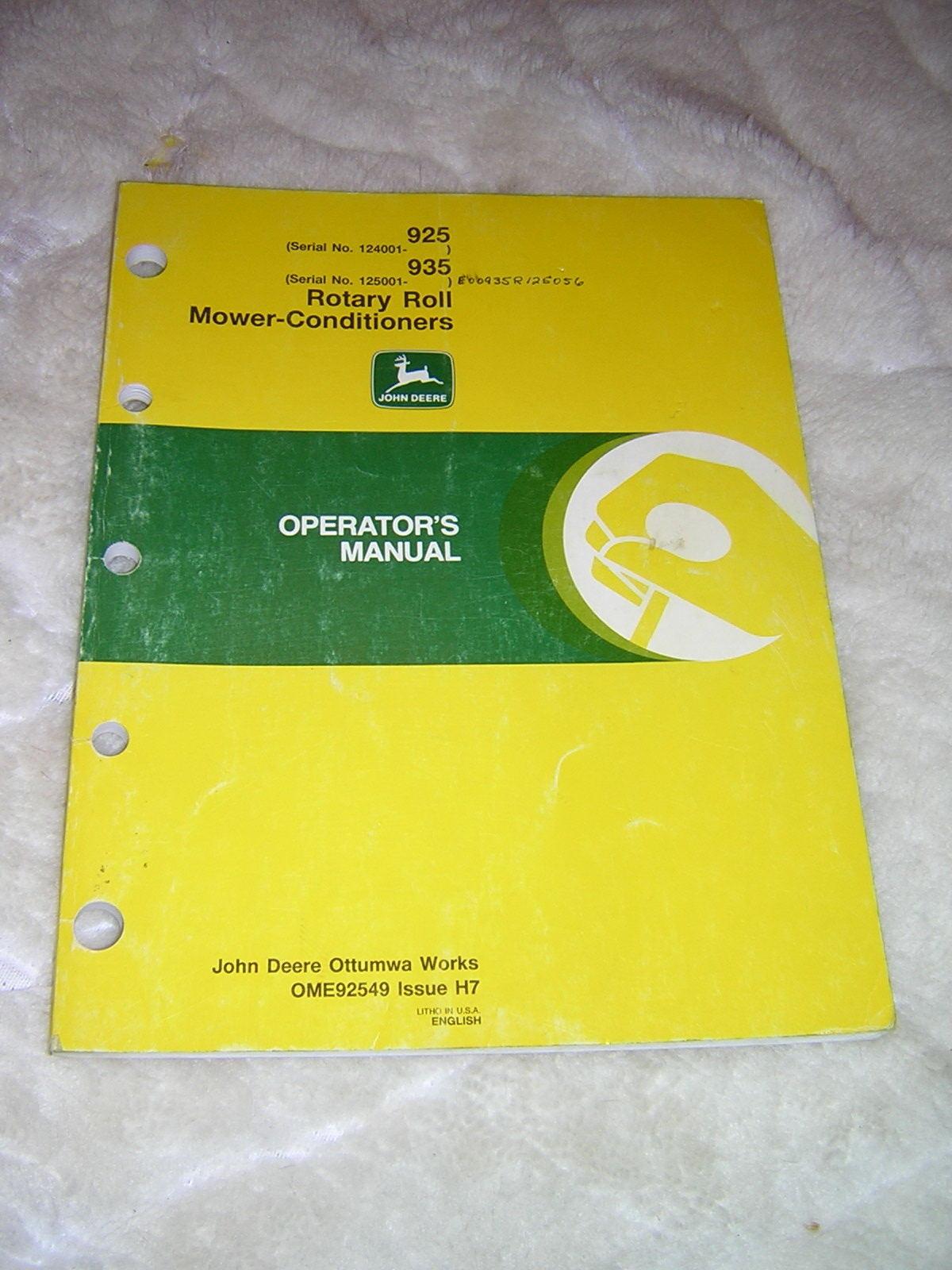john deere mower manuals online