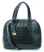 DKNY Donna Karan Black Leather Croc Embossed Shoulder Bag Medium Handbag RRP£300 - $279.39