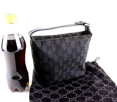 f165ddd2ab93 Auth Gucci GG Black Canvas Pouch Hand Bag and 50 similar items