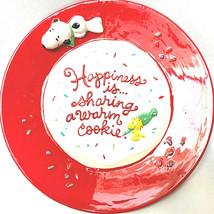 """Vintage 2011 Hallmark Peanuts """"Happiness is..."""" cookie plate w/recipe  2011 - $28.22"""