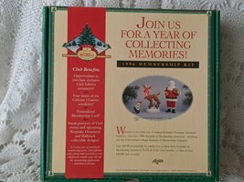 Hallmark Keepsake 1996 Membership Kit Christmas Ornaments Santa Rudolph ... - $19.39