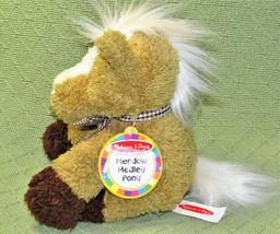 """Melissa Doug Meadow Medley Pony Plush With Sound Stuffed Animal + Hang Tag 8"""" - $19.80"""