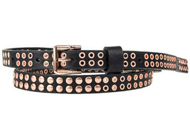 Diesel Womens B-Tylera X04905 Leather Belt Black 85CM - $110.63