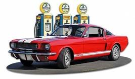 1966 Mustang GT 350 Fill-Up by Larry Grossman Plasma Cut Metal Sign - $35.00