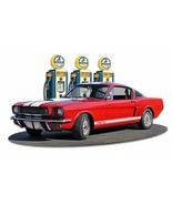1966 Mustang GT 350 Fill-Up by Larry Grossman Plasma Cut Metal Sign - $35.00