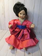 "Marie Osmond 1999 Disney Babies 'Baby Mulan' Porcelain Doll 13"" Sitting  - $74.24"