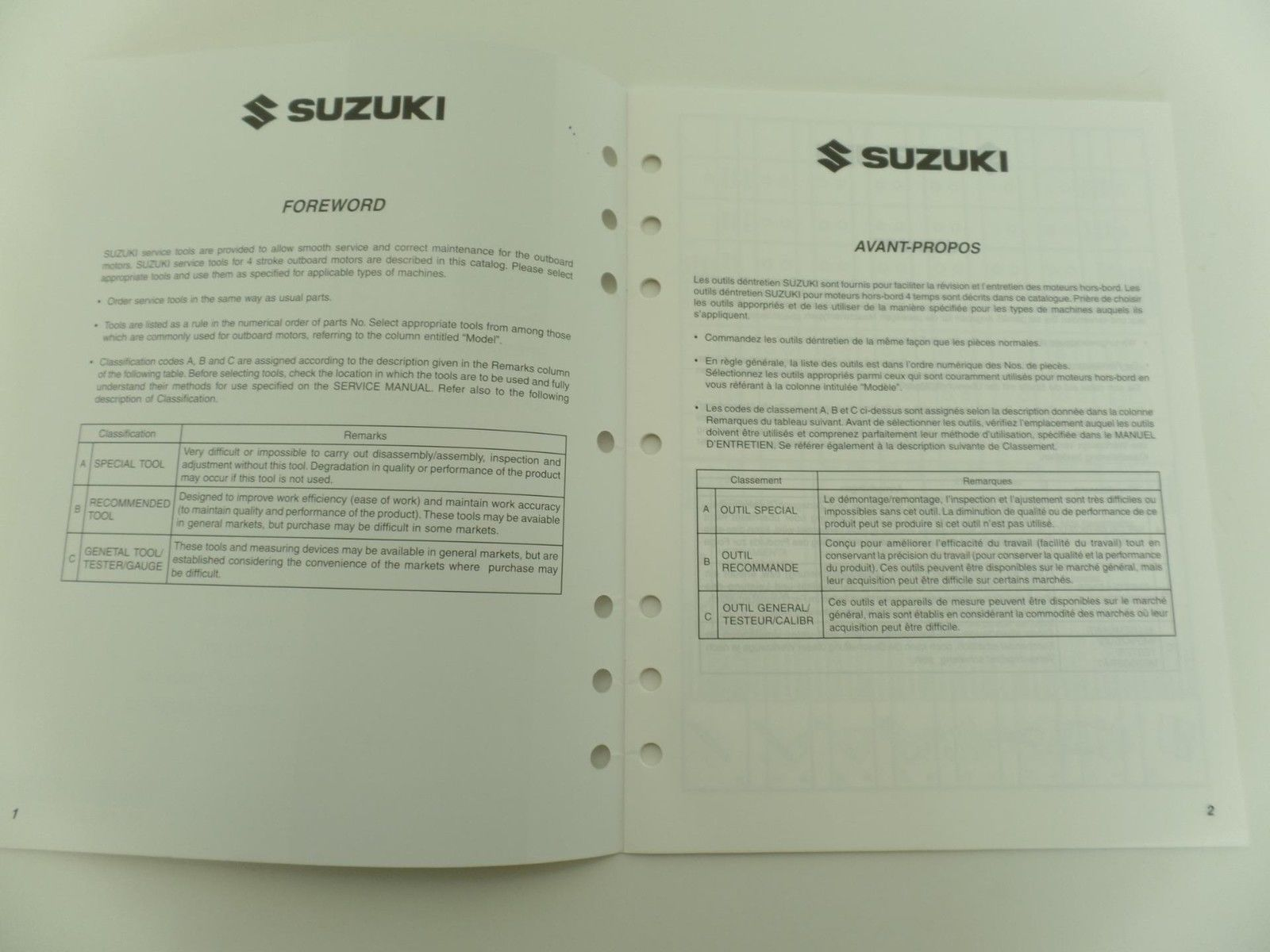 Suzuki 2004 Special Service Tools Catalog and 50 similar items