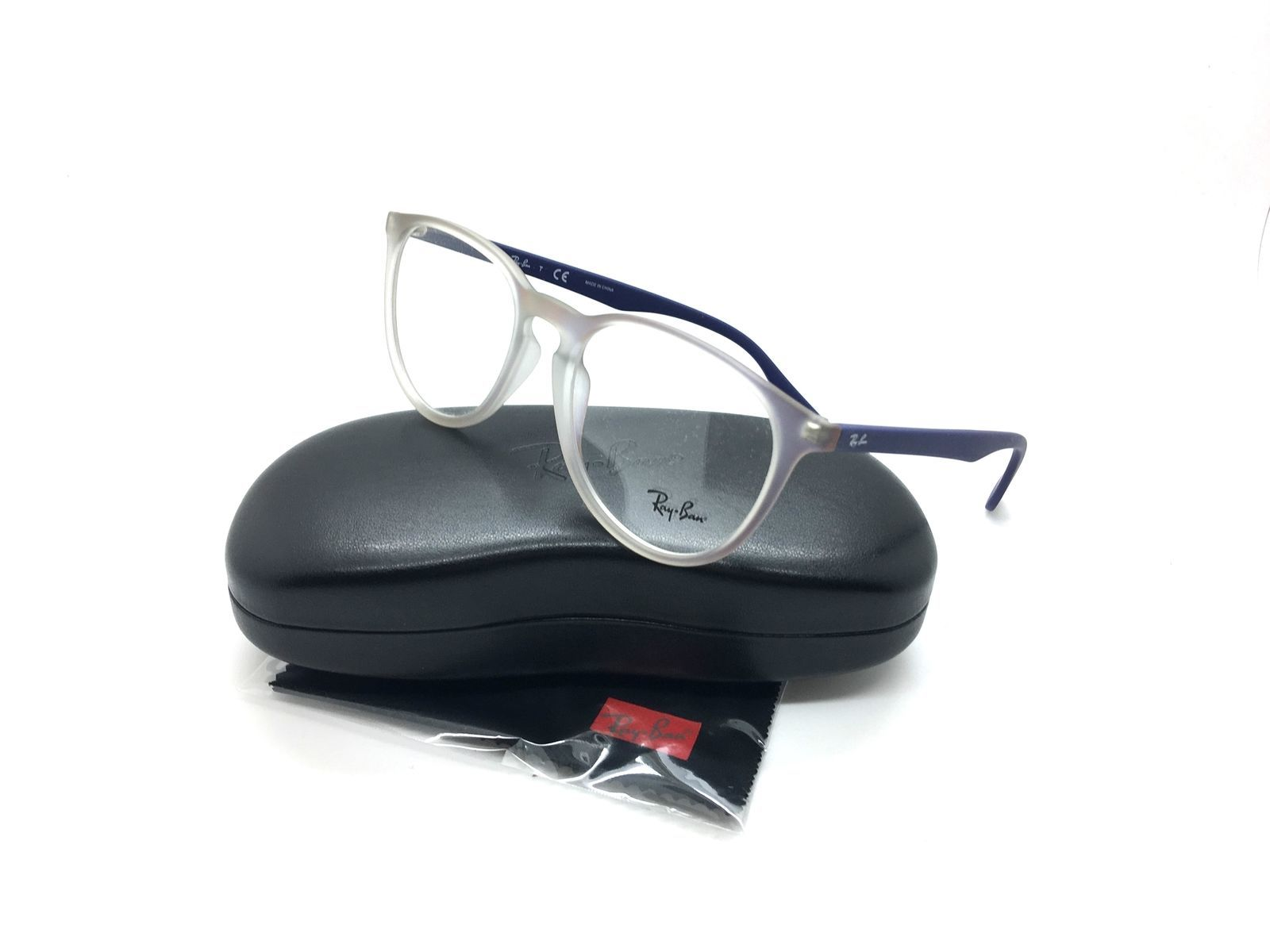 decf9d3e5e Ray Ban Violett Brille RB 7046F 5486 55 mm RX7046 Demo Brillengläser