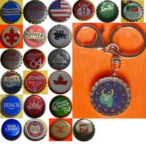Constellation Taurus Bull icon Coke Sprite pepsi & more Soda beer cap Keychain