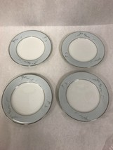 6.5 inch  plate NORITAKE vintage Cathay 1959-64 Blue silver4 pcs. bread - $26.92