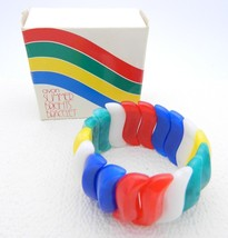 VTG AVON 1984 SUMMER BRIGHTS Rainbow Stretch Bracelet - $29.70