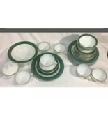 Vintage 1954 Pyrex Green Regency Milk Glass 31 Pc Set - $154.69