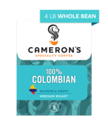 CAMERON'S WHOLE BEAN 100% COLOMBIAN 4LB PACKAGE - $44.46