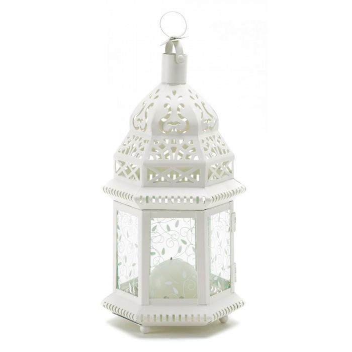 20 White Moroccan Style Lantern Candleholder Wedding Centerpieces image 3