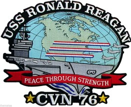 "USS RONALD REAGAN CVN-76  NAVY 11"" EMBROIDERED MILITARY JACKET BACK  PATCH - $31.58"