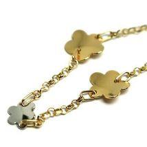 Bracelet Yellow White Gold 18K 750, Flowers, Daisy Woven Trellis 18 CM image 4