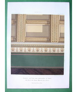 ARCHITECTURE COLOR PRINT : Berlin Mauerstrasse n. 34 Mansion Wood Carved... - $22.95