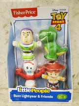 Little People Disney Pixar Toy Story Buzz, Jessie, Forky, & Rex Set - $14.50