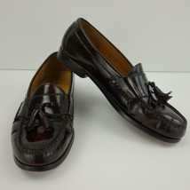 b27ffd62b8 Cole Haan Cordovan Leather Pinch Tassel Loafers Mens Shoes Sz 10 1/2 D -