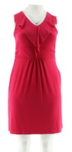 Kelly Clinton Kelly Slvless Dress Ruffle Raspberry 22W NEW A266479 - $30.67