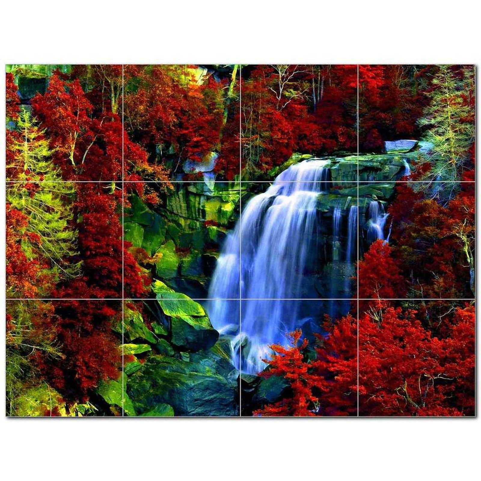 Primary image for Waterfall Photo Ceramic Tile Mural Kitchen Backsplash Bathroom Shower BAZ406140