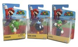 Super Mario Brothers World Nintendo Figures Luigi, Yoshi, & BOB-OMB New Lot Of 3 - $26.00
