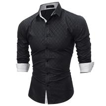 2018 Fashion Brand shirt Summer Plaid Men Slim Fit Shirt Long Sleeve Cas... - $37.36+