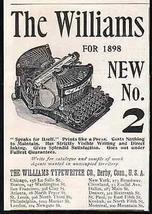 Williams Typewriter Grasshopper 1898 Small AD - $14.99
