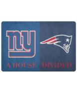 House Divided Man Cave NFL Football NY Giants Patriots Doormat - $29.73