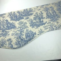 3 panel Waverly Country Life Blue Ivory Toile Lined Valance 81x21 Curtain Window - $29.69
