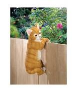 "Adorable Climbing Cat ""Amber"" Outdoor Yard Decor - $20.81"