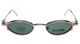 NEW SmartFlip KSF450 PINK CHRME / CLIP ON EYEGLASSES GLASSES 42-19-135 B... - $29.68