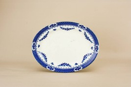 Blue White Serving PLATTER Knowsley Medium Vintage Dinner Winkle English... - $59.29