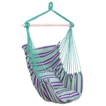 Hammock Chairs Distinctive Cotton Canvas Hanging Rope Chair with Pillows... - £40.67 GBP