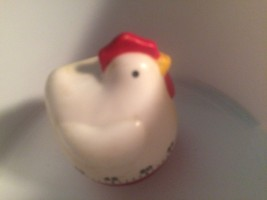 "COLLECTIBLE HEN PLASTIC KITCHEN TIMER 3.5"" Tall -Hear ticking, timer wor... - $5.94"