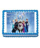 Frozen Edible Cake Image Cake Topper - $8.98+