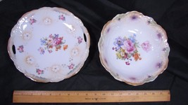 Vintage Bavaria Scallop Double Handle Platter &... - $33.15