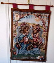 Boyds Bears Afternoon Tea Wall Hanging Tapestry 26 x 36  - $44.54