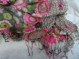 Vera Bradley soft Fringe Scarf in Olivia Pink - $25.00