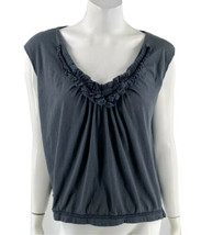 Urban Outfitters Top Size Medium Gray Cotton Gray V Neck Loose Fit Shirt... - $10.89