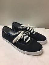Vintage KEDS ORIGINAL Dark Blue Canvas Sneakers Shoes Size 9 - $29.69