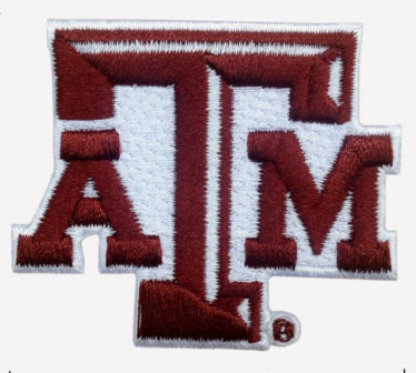 "Texas A & M Embroidered Patch Size 2.25"" x 1.87"" Shipped from USA"