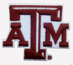 """Texas A & M Embroidered Patch Size 2.25"""" x 1.87"""" Shipped from USA - $5.95"""