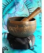 Tibetan 3 Inch Singing Bowl w/ Striker & Black Cushion Made of 7 Metals sb5 - $21.55