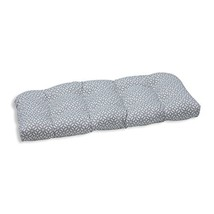 Pillow Perfect Outdoor/Indoor in The Frame Pebble Wicker Loveseat Cushion - £43.36 GBP