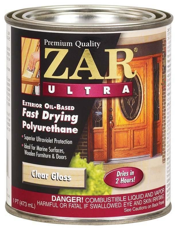 2xZAR Ultra 1Pt Clear Gloss Oil Fast Dry Polyurethane 34011 United Gilsonite Lab