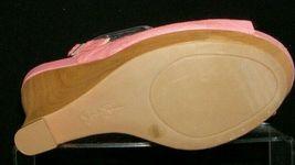 Jessica Simpson 'Genette' pink man made snake print slingback wedges 9.5M image 9