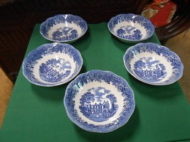 """Magnificent J&G Meakin ROMANTIC """"Chequers"""" English Ironstone Set  5 CERE... - $49.09"""