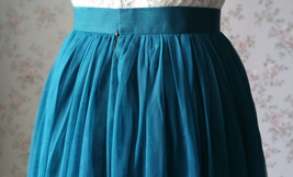 Floor Length Tulle Skirt High Waisted Wedding Bridesmaid Separate Deep Green image 5