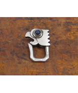 1950's Mexican Sterling Silver Parrot Key Ring with Blue Lapis Stone Bea... - $295.00